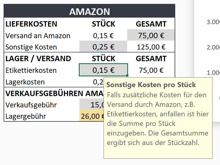 ToolTips - Amazon Gebührenrechner von halloPRIME