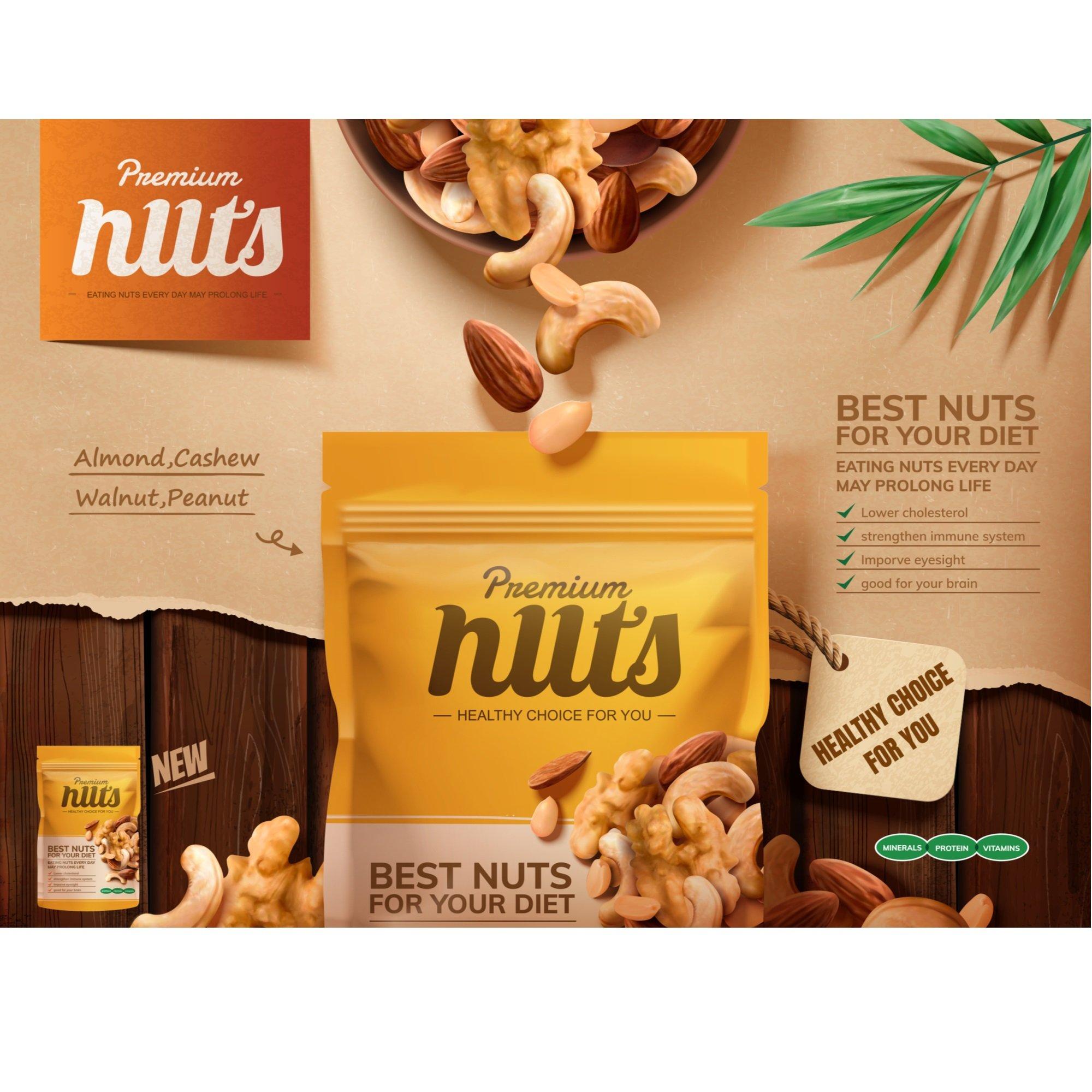 Verpackungsdesign Nüsse