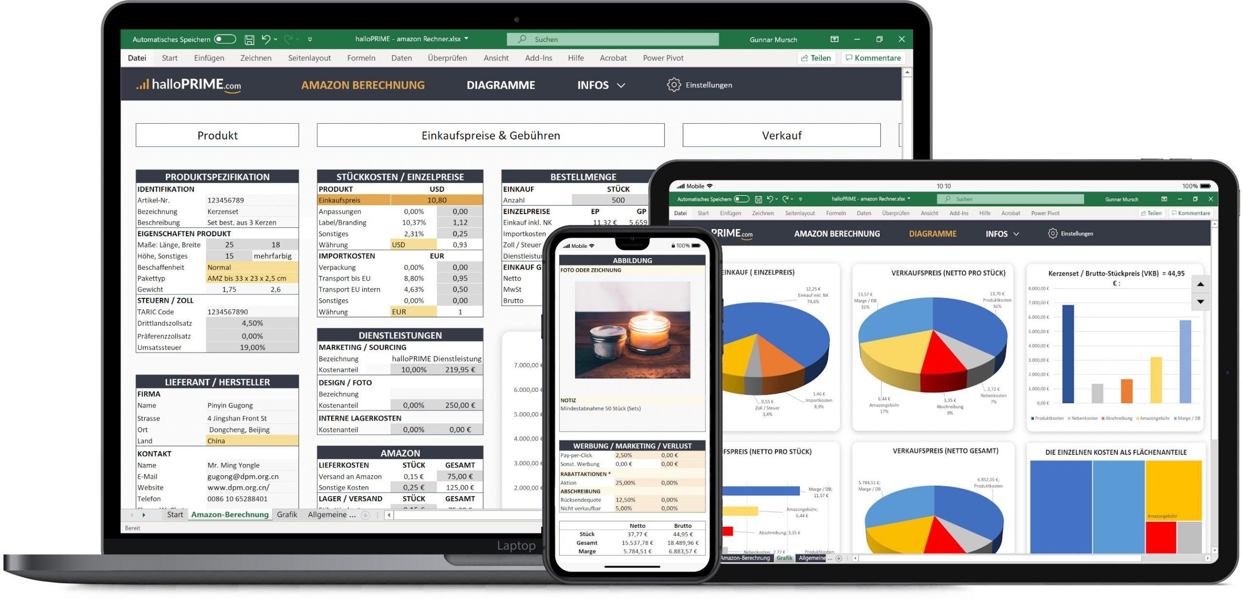 halloPRIME Amazon FBA Rechner für Excel